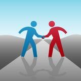 La gente di affari progredice insieme stretta di mano Immagini Stock