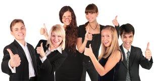 La gente di affari raggruppa con il gesto giusto Immagini Stock
