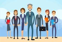 La gente di affari raggruppa diverso Team Vector Fotografie Stock