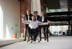 La gente di affari raggruppa si diverte Fotografia Stock Libera da Diritti