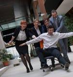 La gente di affari raggruppa si diverte Fotografia Stock