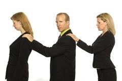 La gente di affari si leva in piedi insieme Immagini Stock