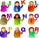 La gente di alfabeto illustrazione vettoriale