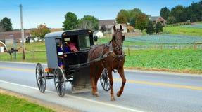 La gente di Amish immagine stock