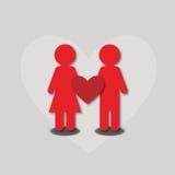 La gente di amore del cuore fotografie stock