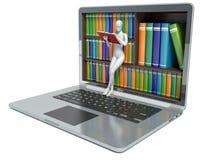 la gente di bianco 3d Nuove tecnologie Biblioteca di Digital Fotografia Stock