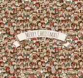 La gente di Buon Natale Fotografie Stock Libere da Diritti