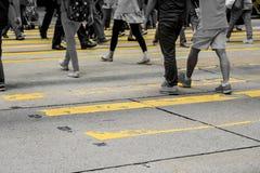 La gente di città Fotografie Stock Libere da Diritti