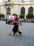 La gente di dancing (compleanno di Bucarest 555) Immagini Stock Libere da Diritti