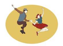 La gente di dancing dell'oscillazione Fotografia Stock Libera da Diritti
