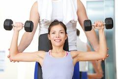 La gente di forma fisica di ginnastica Fotografie Stock