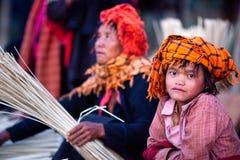 La gente di Intha, Myanmar Immagine Stock Libera da Diritti