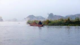 La gente di Intha in Shan State, Myanmar Fotografia Stock Libera da Diritti
