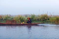 La gente di Intha in Shan State, Myanmar Fotografie Stock Libere da Diritti