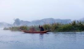 La gente di Intha in Shan State, Myanmar Immagini Stock Libere da Diritti