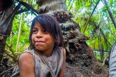 La gente di Kogi, gruppo etnico indigeno, Colombia fotografia stock libera da diritti