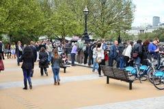 La gente di Londra Fotografia Stock