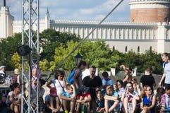 La gente di LUBLINO, POLONIA 29 luglio 2017 - che si riunisce dalla scena alla C Immagini Stock Libere da Diritti