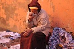 La gente di Marruecos alla via Fotografia Stock Libera da Diritti
