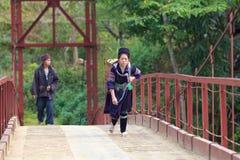 La gente di minoranza di H'Mong Ehtnic del Vietnam Immagini Stock