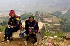 La gente di minoranza di H'Mong Ehtnic del Vietnam Fotografie Stock