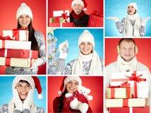 La gente di Natale Immagini Stock Libere da Diritti