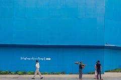La gente di Rangoon Fotografia Stock Libera da Diritti