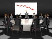 La gente di riunione alla tavola rotonda Fotografia Stock Libera da Diritti