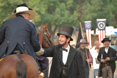 La gente di saluto del Abraham Lincoln Immagine Stock Libera da Diritti