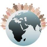 La gente di simbolo come popolazione varia della terra Fotografia Stock Libera da Diritti