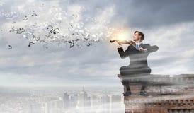 La gente di talento deve essere sulla cima! Fotografia Stock