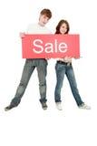 La gente di vendita Fotografie Stock Libere da Diritti
