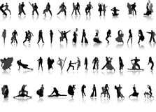 La gente di vettore. Dancing Fotografie Stock Libere da Diritti