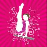La gente di vettore del Gymnast Immagini Stock Libere da Diritti