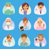 La gente di vettore del personale medico degli infermieri e di medici il gruppo di medici del ritratto aggiusta il concetto degli Fotografia Stock