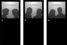 La gente dietro i portelli Fotografia Stock Libera da Diritti