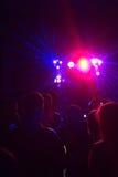 La gente divertendosi in una discoteca Effetto della sfuocatura Immagine Stock Libera da Diritti
