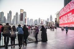 La gente Dubai 2015 del centro Fotografia Stock Libera da Diritti