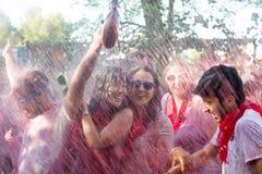 La gente durante il Haro Wine Festival Fotografie Stock