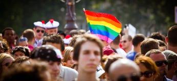 La gente durante l'orgoglio gaio Fotografia Stock