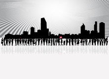 La gente e città di affari Immagine Stock Libera da Diritti