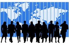 La gente e mappa Fotografie Stock Libere da Diritti