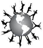 La gente e mondo royalty illustrazione gratis