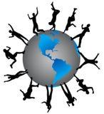 La gente e mondo Immagini Stock Libere da Diritti