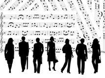 La gente e musica Fotografia Stock