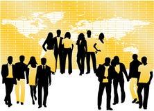 La gente e programma Immagine Stock
