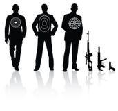 La gente ed arma Fotografia Stock