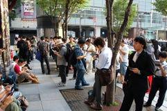 La gente ed i loro dispositivi, Giappone Fotografia Stock Libera da Diritti