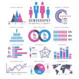 La gente, el adulto y el niño, ser humano, gente, vector del infographics de la familia firma y las cartas stock de ilustración