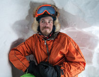 La gente el invierno vacation, esquí y snowboard Imágenes de archivo libres de regalías